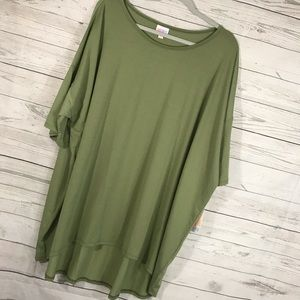 NWT LuLaRoe Womens Shirt Solid Green Irma Tunic 3X